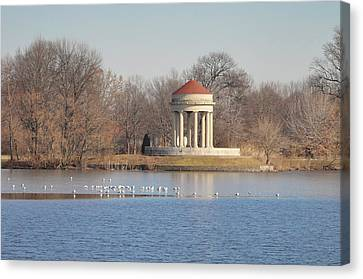 Fdr Park - South Philadelphia Canvas Print by Bill Cannon
