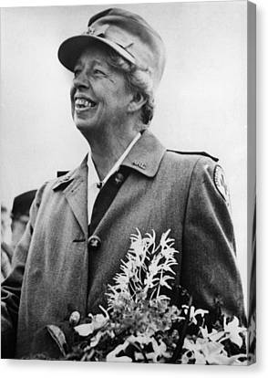 Fdr Presidency. Eleanor Roosevelt Canvas Print