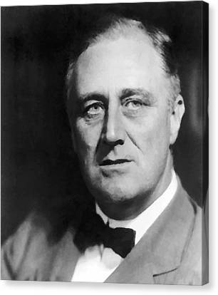 Democracy Canvas Print - FDR by War Is Hell Store