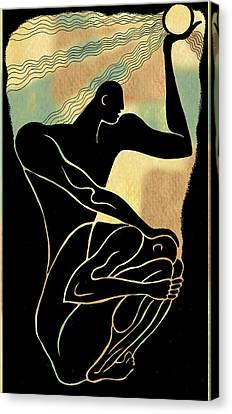Consoling Canvas Print - Fear And Healing by Leon Zernitsky