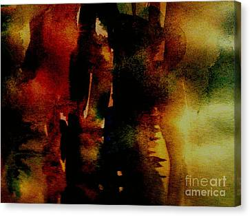 Canvas Print featuring the painting Fear On The Dark by Rushan Ruzaick