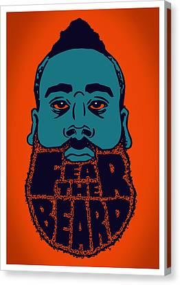 Fear The Beard Canvas Print by Jack Perkins