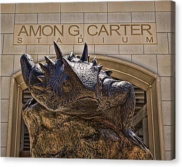 Fear The Frog - Tcu Canvas Print by Stephen Stookey