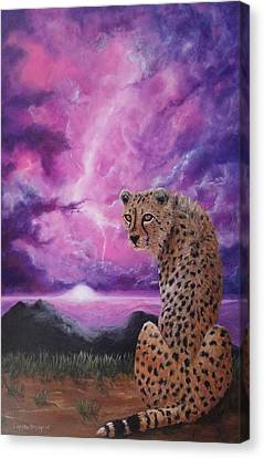 Canvas Print featuring the painting Fearless  by Christie Minalga