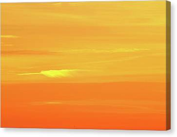 Feather Cloud In An Orange Sky  Canvas Print