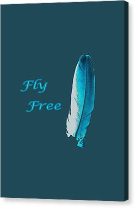 Feather Of Free Flight Canvas Print by Aliceann Carlton