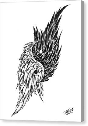 Feathered Ying Yang  Canvas Print by Peter Piatt