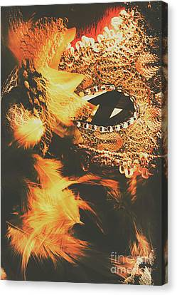 Hidden Face Canvas Print - Feathers And Femininity  by Jorgo Photography - Wall Art Gallery