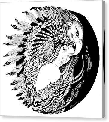 Feathers Dream Canvas Print by Zdralea Ioana