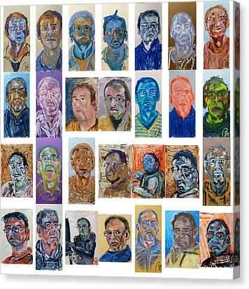 February Bachmors Dailyselfportrait  Canvas Print by Bachmors Artist