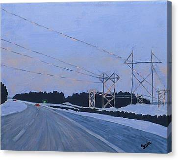 February Dawn Canvas Print by Laurie Breton