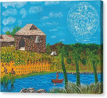 February  Mayan Farm Canvas Print