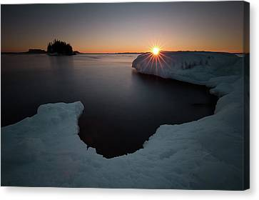 February Sunrise In Sturgeon Bay Canvas Print by Jakub Sisak