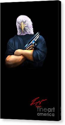 Fed Up 2 Canvas Print by Reggie Duffie