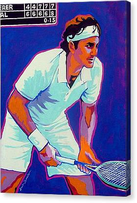 Federer Canvas Print by Gail Zavala
