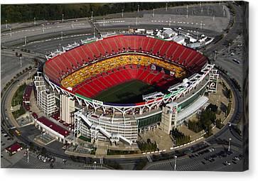 Fedex Field Redskins Stadium Canvas Print by Steve Monell