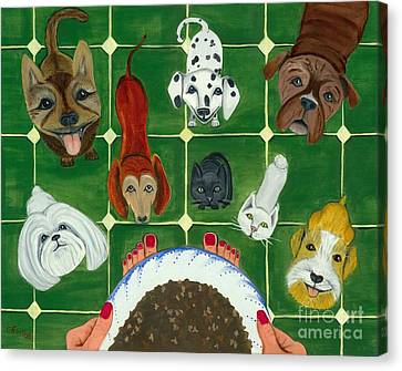 Canvas Print featuring the painting Feed Me by Gail Finn