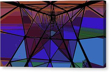Feed To A Power Line Of Color Canvas Print by Kenneth James