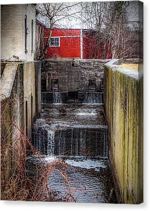 Feeder Canal Lock 13 Canvas Print