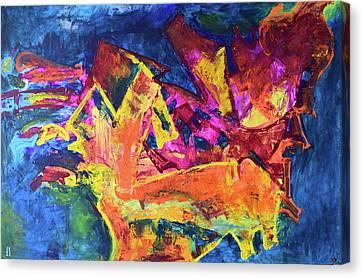 Incarnation Canvas Print - Feeding The Yellow Animal by Aatmica Ojha
