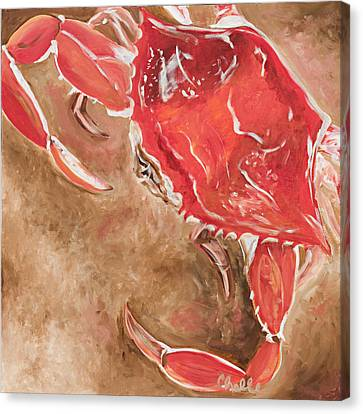 Feelin' Crabby Canvas Print by Chelle Fazal
