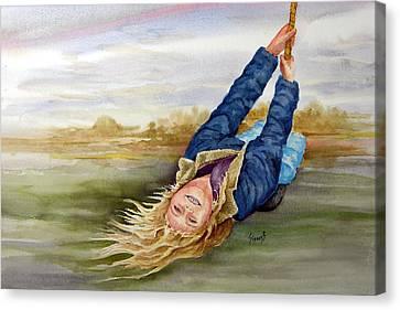 Feelin The Wind Canvas Print