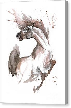 Feeling A Bit Crazy Today Canvas Print by Angel Tarantella