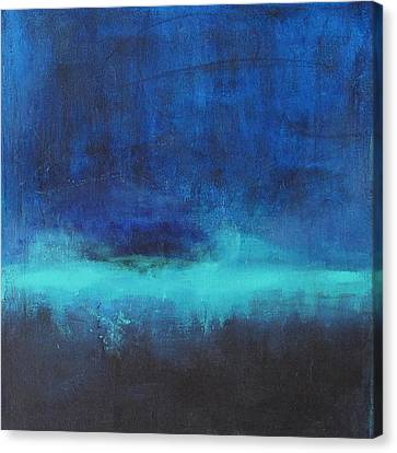 Canvas Print featuring the painting Feeling Blue by Nicole Nadeau
