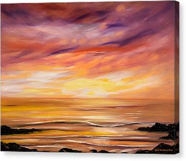 Feeling The Divinity - Sunset Painting Canvas Print