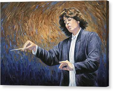 Feeling The Music Canvas Print by Lucie Bilodeau