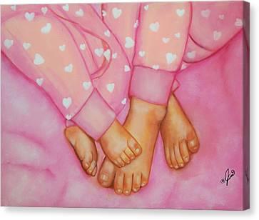 Feet Fete Canvas Print by Joni McPherson