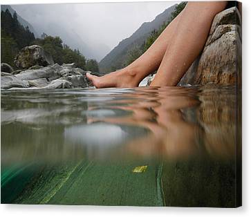 Feet On The Water Canvas Print by Mats Silvan