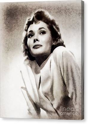 Felicia Farr, Vintage Actress By John Springfield Canvas Print by John Springfield