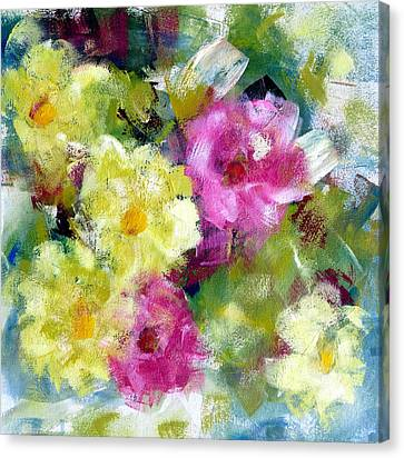 Canvas Print featuring the painting Felicidades by Katie Black