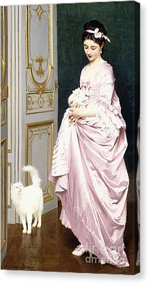 Feline Affection Canvas Print by Joseph Caraud