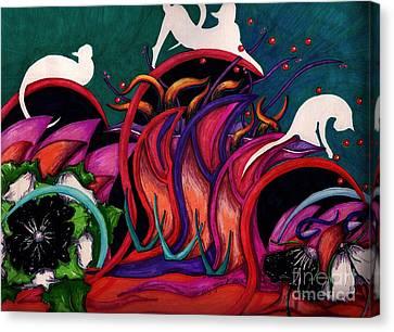 Feline Ecstasy Canvas Print by Suzi Gessert