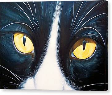 Feline Face 2 Canvas Print