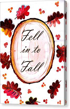 Fell In To Fall Canvas Print