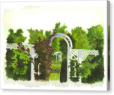 Fellows Riverside Gardens - Mill Creek Park Canvas Print by Michael Vigliotti
