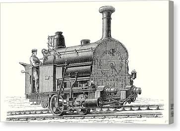 Fell's Locomotive For The Rail Central Railway Canvas Print