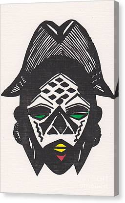 Female Ancestral Mask Of The Mpongue Of The Congo Canvas Print by Mia Alexander