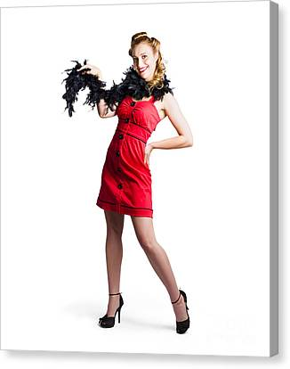 Youthful Canvas Print - Female Cabaret Performer by Jorgo Photography - Wall Art Gallery