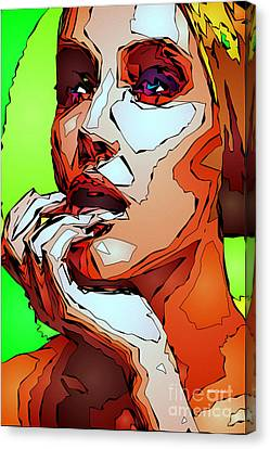 Female Expressions Canvas Print by Rafael Salazar