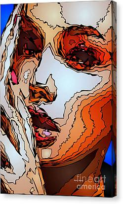 Female Expressions Viii Canvas Print by Rafael Salazar