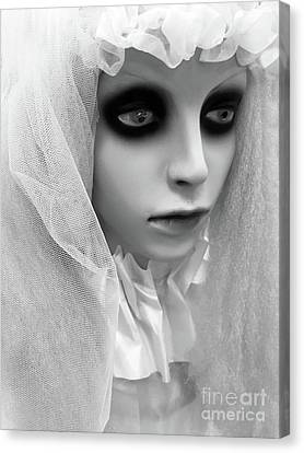 Female Ghost Halloween Print -  Dearly Departed Ghostly Female Soul - My Beloved Canvas Print