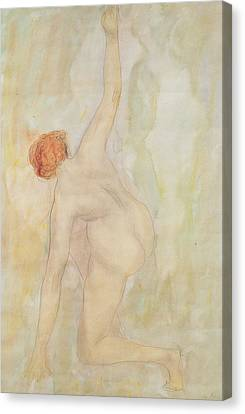 Outstretched Arm Canvas Print - Female Nude by Auguste Rodin