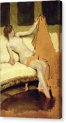 Oil Sketch Canvas Print - Female Nude by Sir Lawrence Alma-Tadema