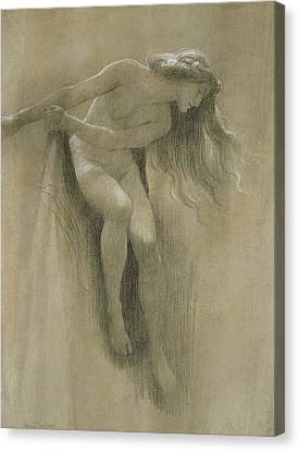 Female Nude Study  Canvas Print by John Robert Dicksee