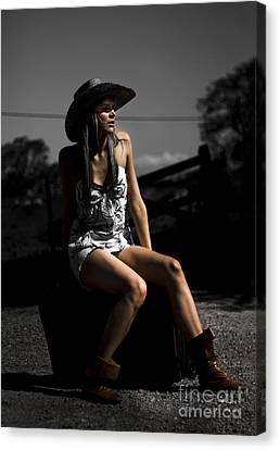 Female Outback Traveler Canvas Print