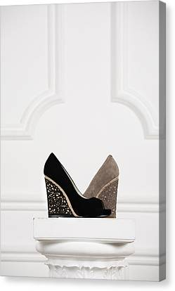 Canvas Print featuring the photograph Female Shoes by Andrey  Godyaykin